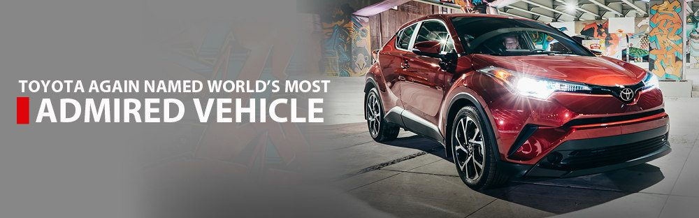 Toyota Again Named Worlds Most Admired Motor Vehicle
